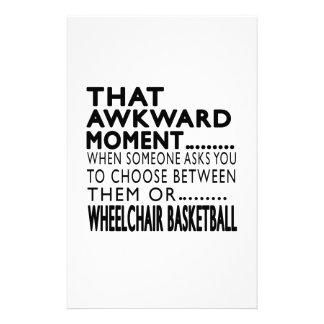 Diseños torpes de ese del momento baloncesto de papeleria personalizada