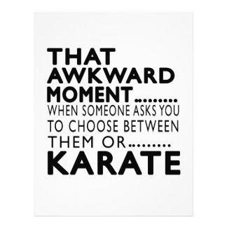 Diseños torpes de ese karate del momento membrete personalizado