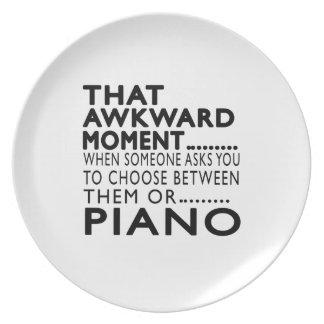 Diseños torpes de ese piano del momento plato para fiesta