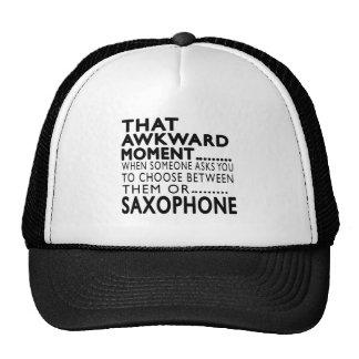 Diseños torpes de ese saxofón del momento gorros