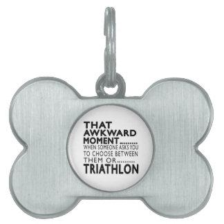Diseños torpes de ese Triathlon del momento Placa Mascota