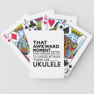 Diseños torpes de ese Ukulele del momento Baraja Cartas De Poker