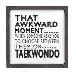 Diseños torpes del ese Taekwondo del momento Caja De Recuerdo De Calidad
