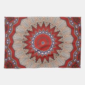 Diseños tradicionales de la materia textil del est toallas de cocina