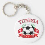 Diseños tunecinos del fútbol llaveros personalizados
