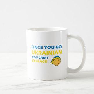 Diseños ucranianos del smiley tazas de café
