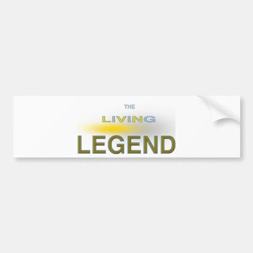 Diseños únicos de la leyenda viva pegatina para auto