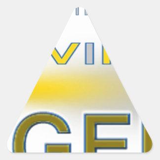 Diseños únicos de la leyenda viva pegatina triangular