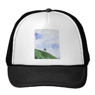 Diseños ventosos de la colina del verano gorro