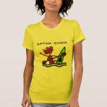 Diseños y cosas del polluelo del kajak camiseta