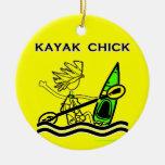 Diseños y cosas del polluelo del kajak adorno de reyes