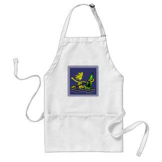 Diseños y cosas del polluelo del kajak delantal