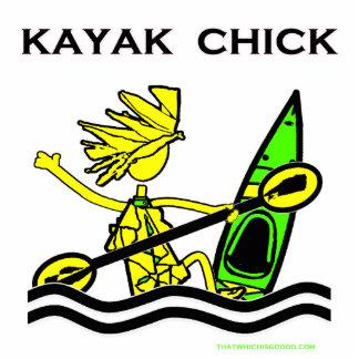 Diseños y cosas del polluelo del kajak esculturas fotograficas