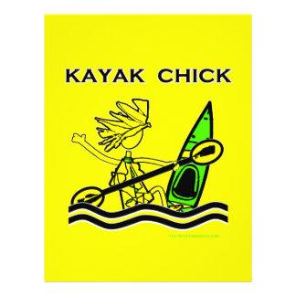 """Diseños y cosas del polluelo del kajak folleto 8.5"""" x 11"""""""