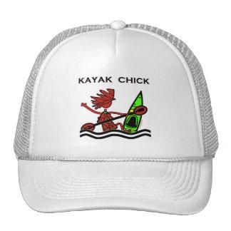 Diseños y cosas del polluelo del kajak gorros bordados