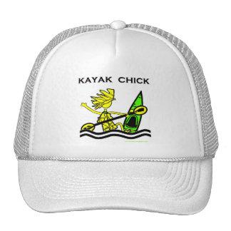 Diseños y cosas del polluelo del kajak gorras de camionero