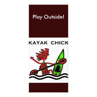 Diseños y cosas del polluelo del kajak lonas