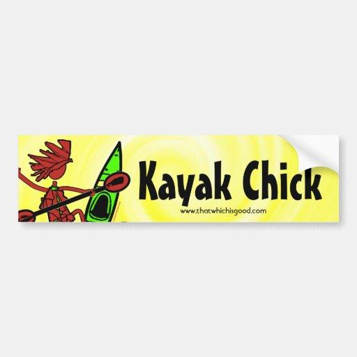 Diseños y cosas del polluelo del kajak pegatina para auto