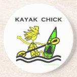 Diseños y cosas del polluelo del kajak posavasos manualidades