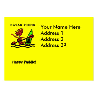 Diseños y cosas del polluelo del kajak tarjetas de visita grandes