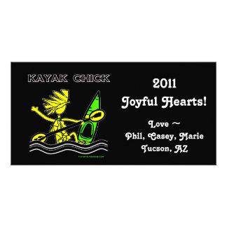 Diseños y cosas del polluelo del kajak tarjetas personales