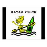 Diseños y cosas del polluelo del kajak tarjeta postal