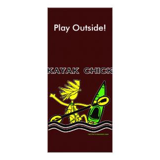 Diseños y cosas del polluelo del kajak tarjetas publicitarias a todo color