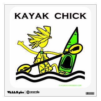 Diseños y cosas del polluelo del kajak vinilo decorativo