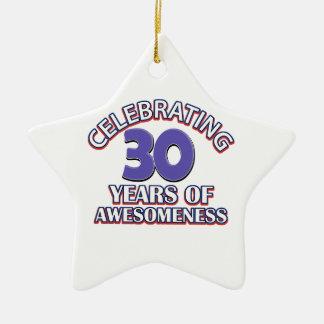 diseños y regalos del cumpleaños de 30 años adornos de navidad