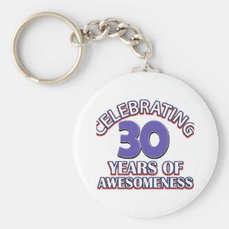 diseños y regalos del cumpleaños de 30 años llaveros personalizados