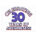 diseños y regalos del cumpleaños de 30 años postales