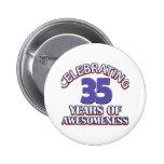 diseños y regalos del cumpleaños de 35 años pin