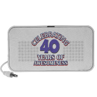 diseños y regalos del cumpleaños de 40 años laptop altavoz