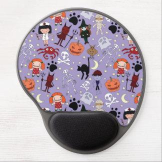 Disfraces de Halloween en púrpura Alfombrilla De Raton Con Gel