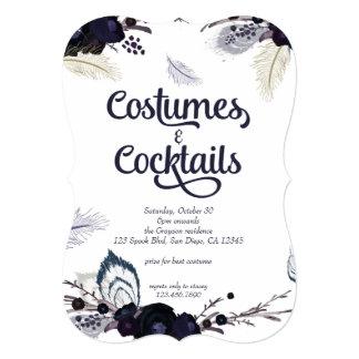 """Disfraces de Halloween y golpe de la mascarada de Invitación 5"""" X 7"""""""