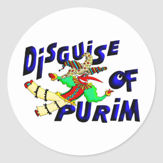 Disfraz de Purim Pegatina Redonda