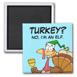 Disfraz divertido de Turquía de la acción de graci Imán De Frigorífico
