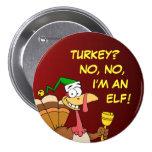 Disfraz divertido de Turquía de la acción de graci Pins
