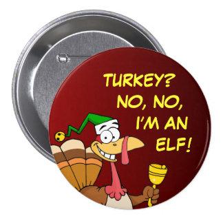 Disfraz divertido de Turquía de la acción de graci Pin Redondo 7 Cm