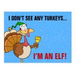 Disfraz divertido de Turquía de la acción de graci Tarjeta Postal