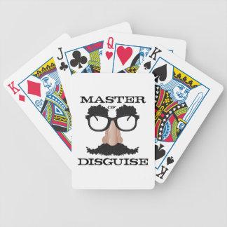Disfraz principal cartas de juego