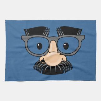 Disfraz torpe del bigote y de los vidrios toalla