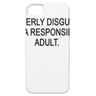 DISFRAZADO LISTO COMO ADULTO RESPONSABLE. .PNG iPhone 5 CARCASA