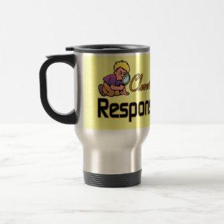 DISFRAZADO LISTO COMO ADULTO RESPONSABLE TAZAS DE CAFÉ