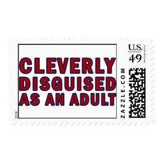 Disfrazado listo como adulto sello