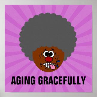 Disfrutando del envejecimiento agraciado en la póster