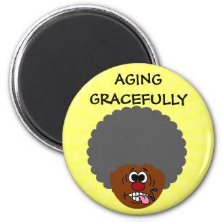 Disfrutando del envejecimiento agraciado en la seg imán redondo 5 cm