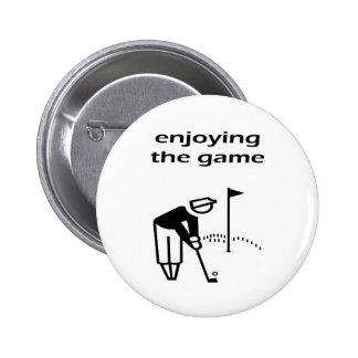 Disfrutar de diseño del golf de The Game Pin Redondo De 2 Pulgadas