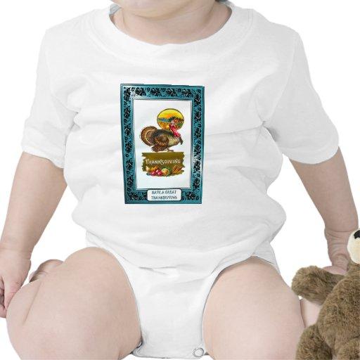 Disfrute de la acción de gracias trajes de bebé