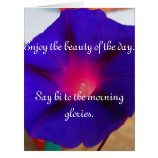 Disfrute de la belleza del día con correhuelas tarjeta de felicitación grande